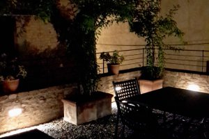 Particular night terrace